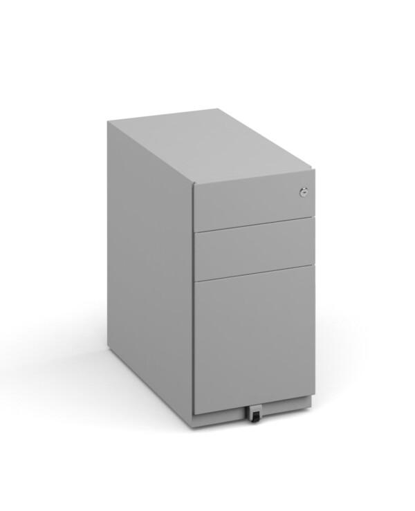 Bisley slimline steel pedestal 300mm wide - goose grey - Furniture
