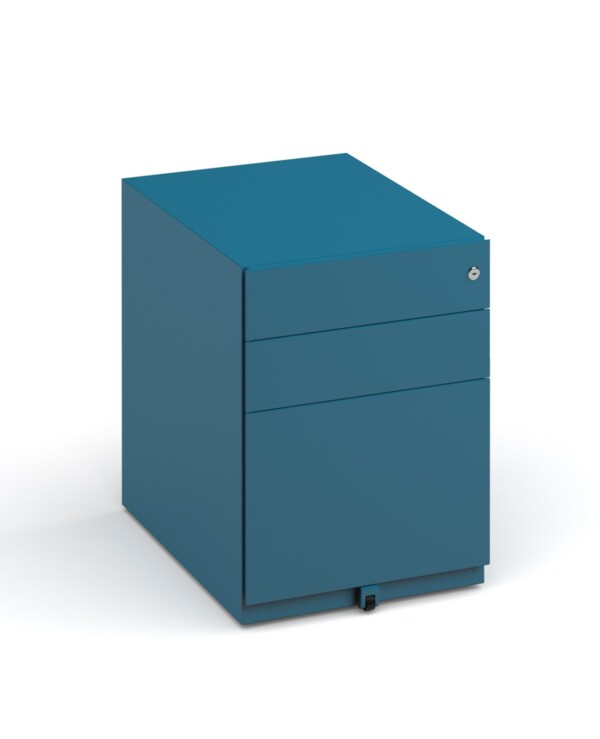 Bisley wide steel pedestal 420mm wide - blue - Furniture