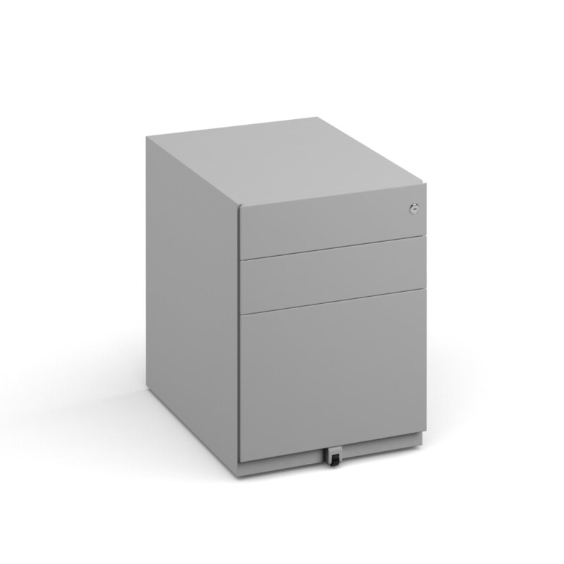 Bisley wide steel pedestal 420mm wide - goose grey - Furniture