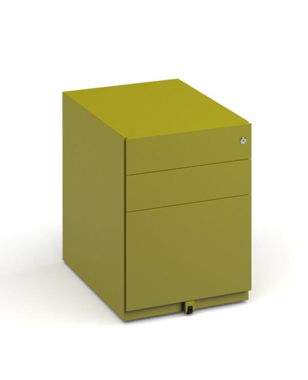 Bisley wide steel pedestal 420mm wide - green - Furniture