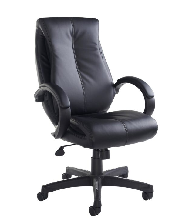 Nantes high back managers chair - black faux leather - Furniture