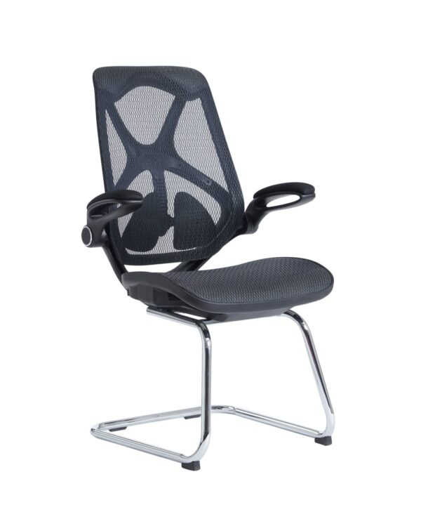 Napier high mesh back visitors chair with mesh seat - black - Furniture