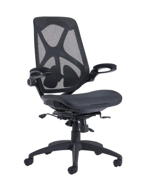 Napier high mesh back operator chair with mesh seat - black - Furniture