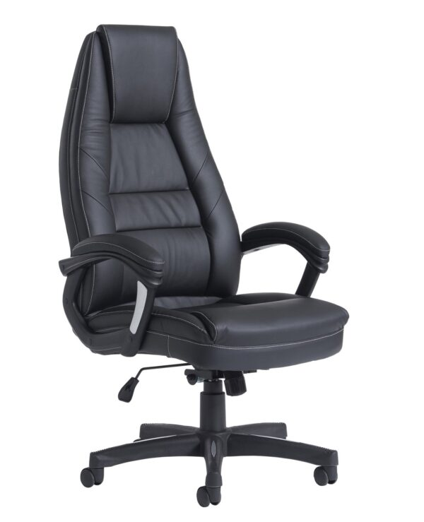Noble high back managers chair - black faux leather - Furniture