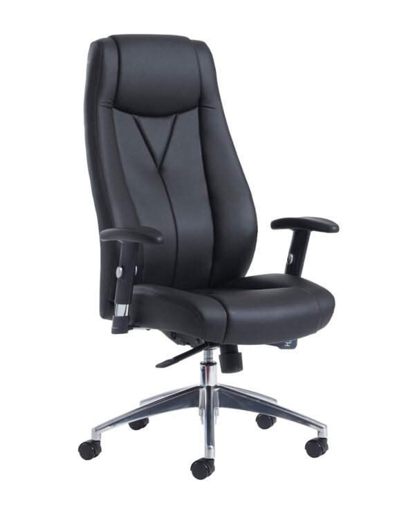 Odessa high back executive chair - black faux leather - Furniture