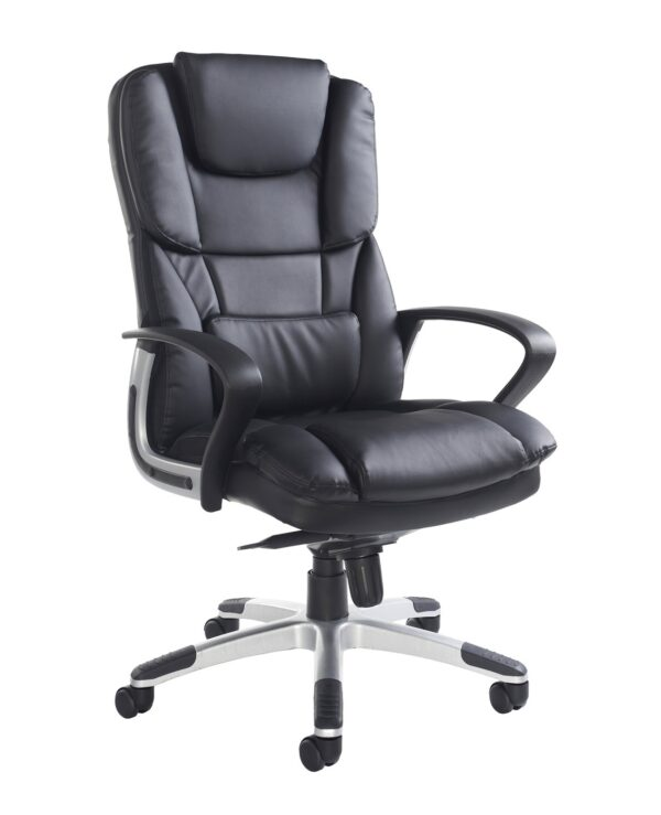 Palermo high back executive chair - black faux leather - Furniture