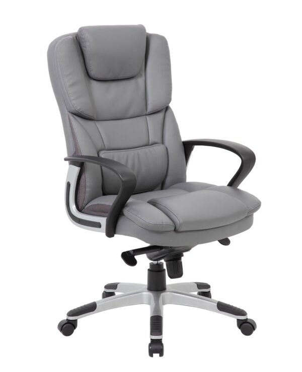 Palermo high back executive chair - grey faux leather - Furniture