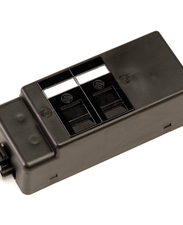 Under desk power bar 2 x RJ45 sockets - black - Furniture