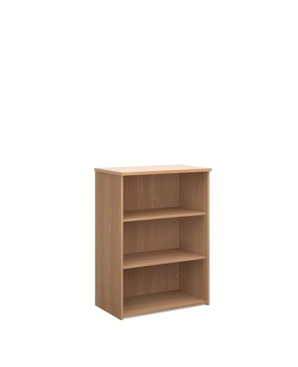 Universal bookcase 1090mm high with 2 shelves - beech - Furniture
