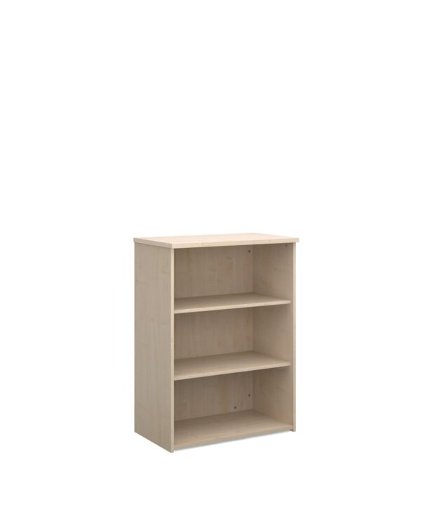 Universal bookcase 1090mm high with 2 shelves - maple - Furniture