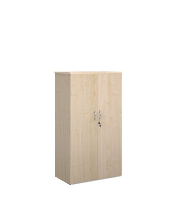 Universal double door cupboard 1440mm high with 3 shelves - maple - Furniture