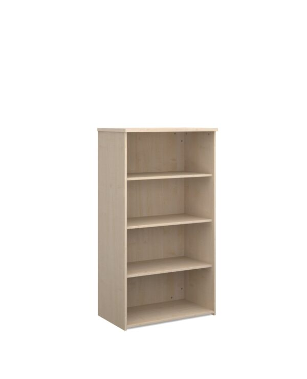 Universal bookcase 1440mm high with 3 shelves - maple - Furniture