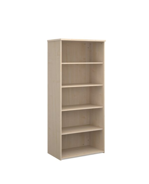 Universal bookcase 1790mm high with 4 shelves - maple - Furniture