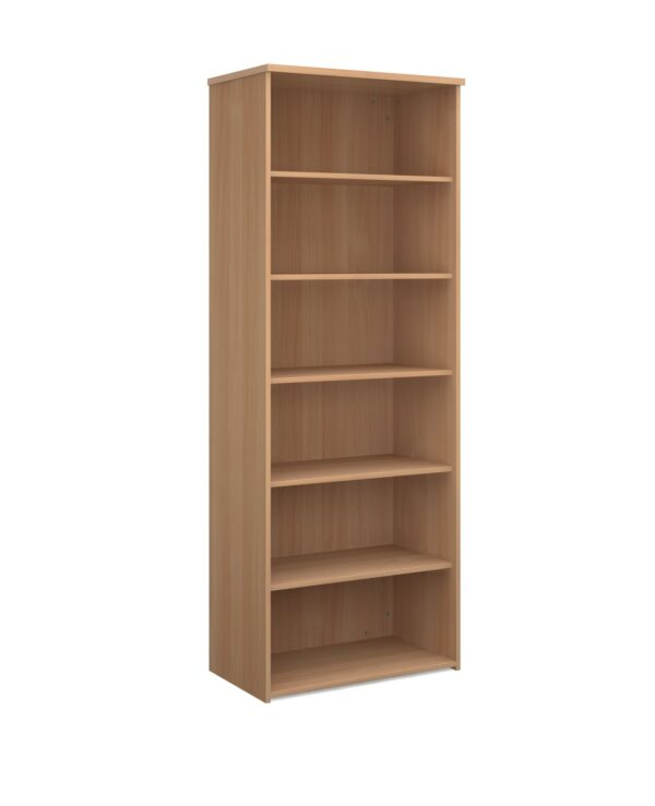 Universal bookcase 2140mm high with 5 shelves - beech - Furniture