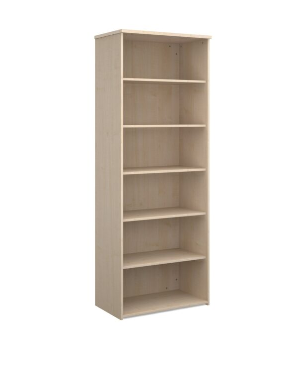 Universal bookcase 2140mm high with 5 shelves - maple - Furniture