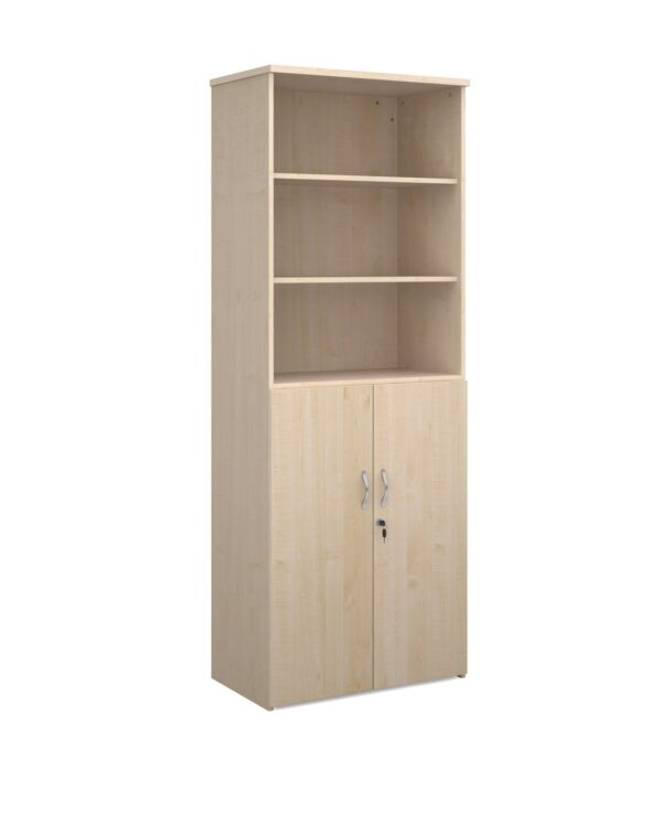 Universal combination unit with open top 2140mm high with 5 shelves - maple - Furniture