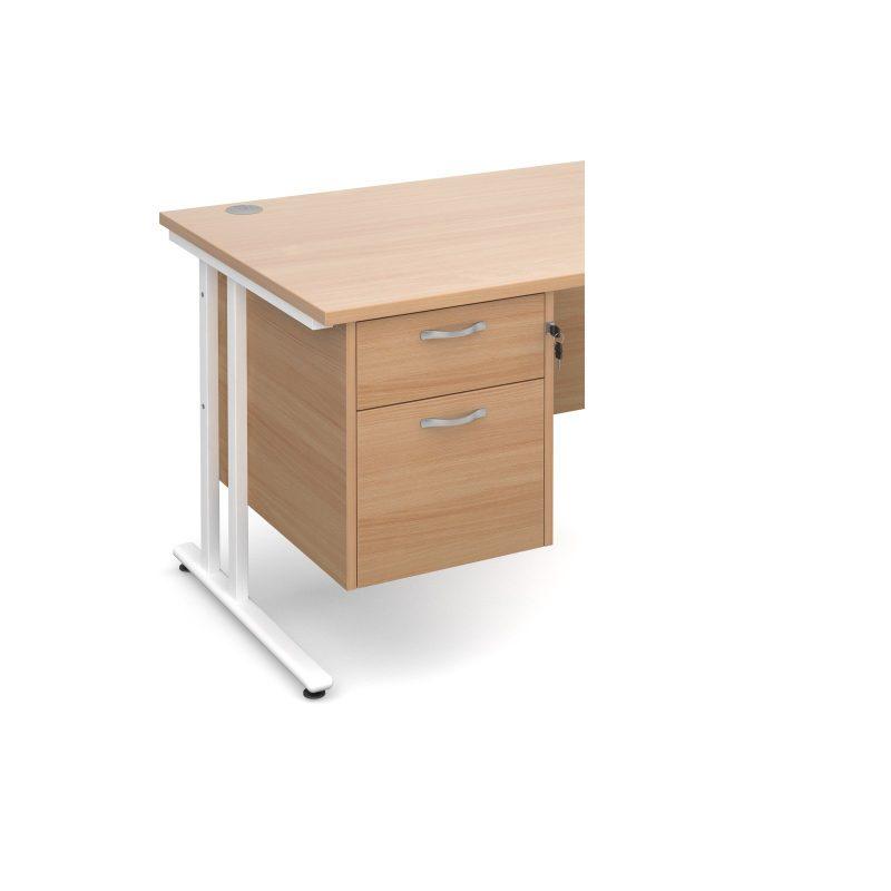 Maestro 25 2 drawer fixed pedestal - beech - Furniture