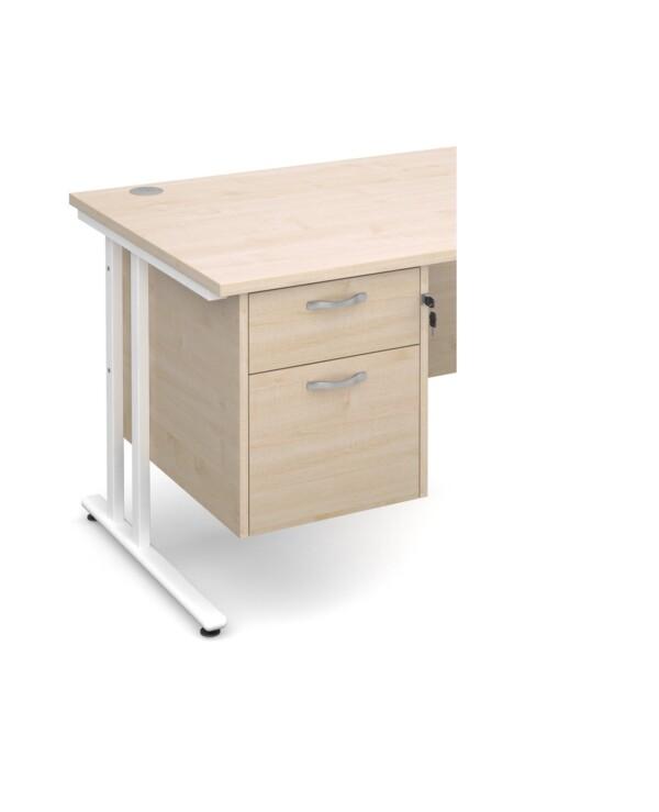 Maestro 25 2 drawer fixed pedestal - maple - Furniture