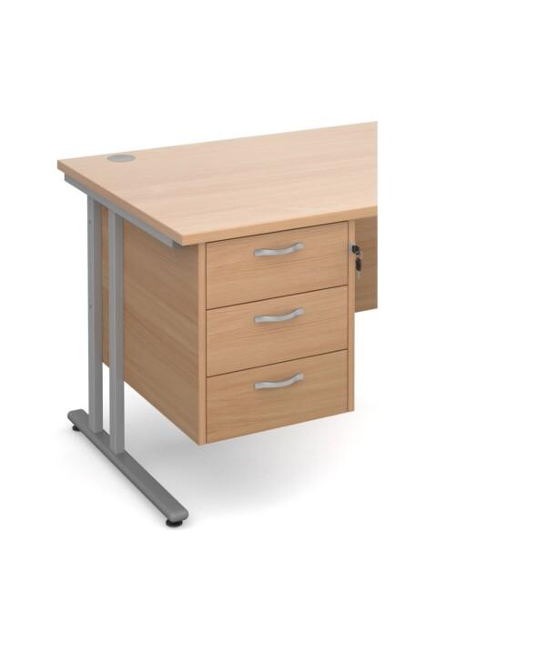 Maestro 25 3 drawer fixed pedestal - beech - Furniture
