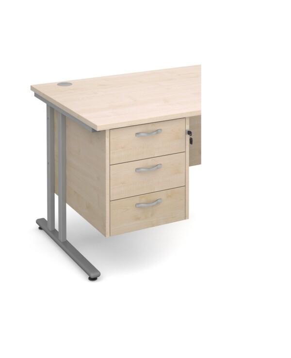 Maestro 25 3 drawer fixed pedestal - maple - Furniture
