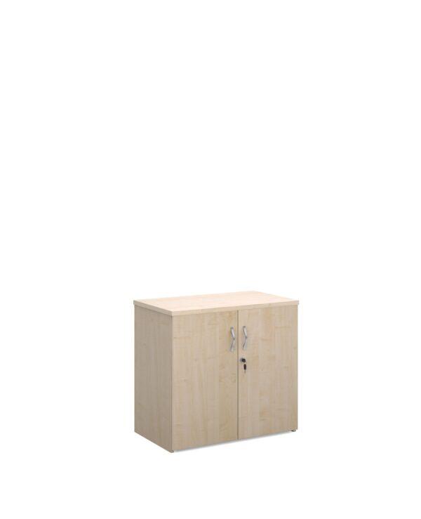 Universal double door cupboard 740mm high with 1 shelf - maple - Furniture