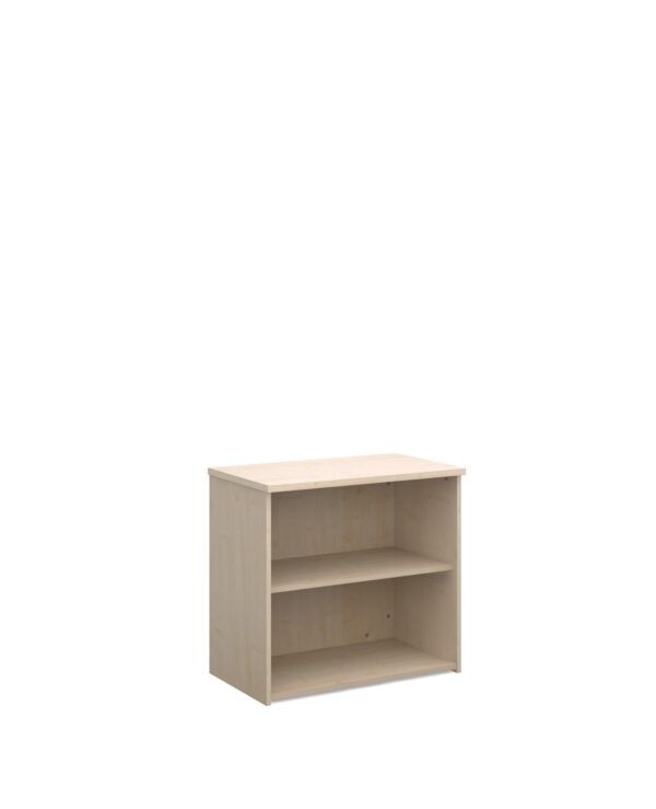 Universal bookcase 740mm high with 1 shelf - maple - Furniture