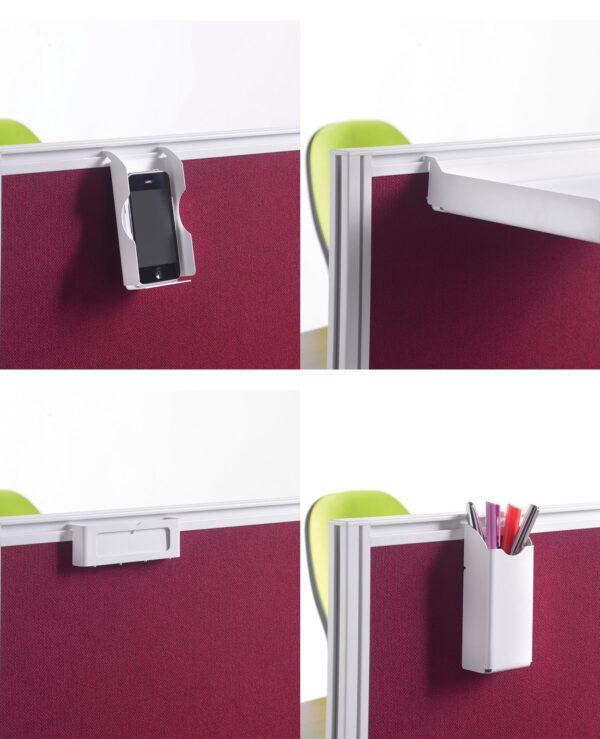Screen accessories pack for aluminium frames screens - silver - Furniture