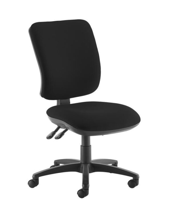 Senza high back operator chair with no arms - black - Furniture