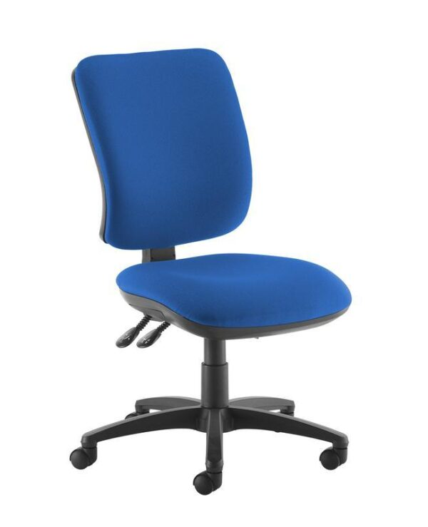 Senza high back operator chair with no arms - blue - Furniture