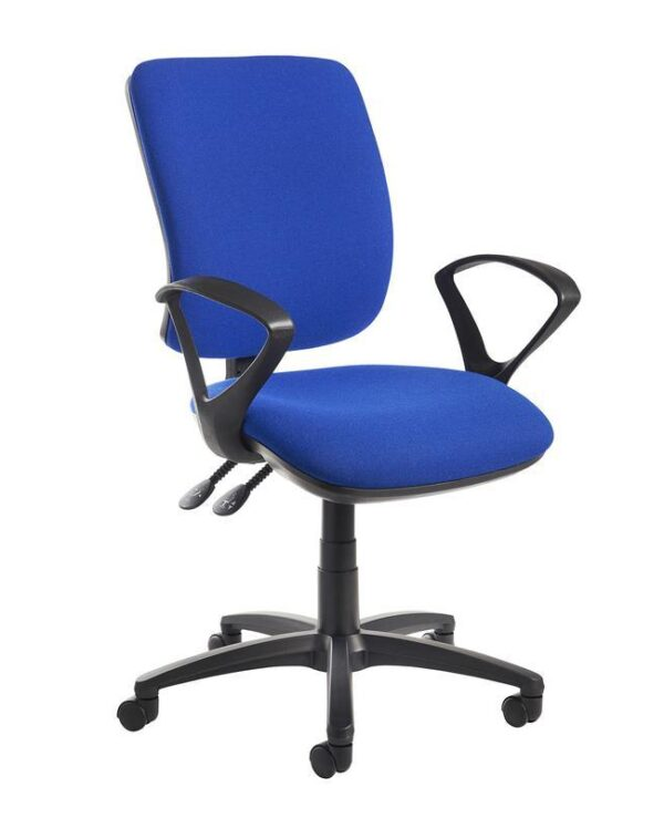 Senza high back operator chair with fixed arms - blue - Furniture