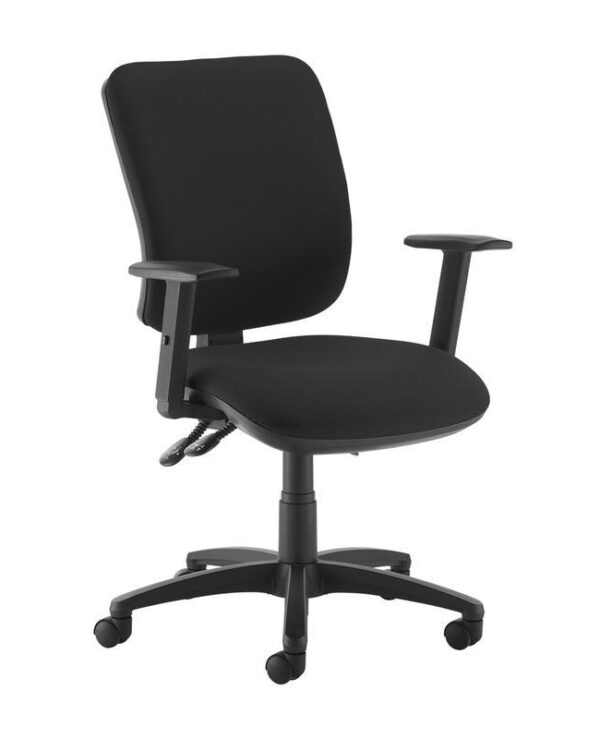 Senza high back operator chair with adjustable arms - black - Furniture