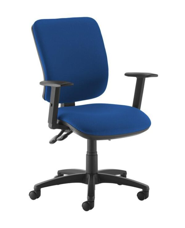 Senza high back operator chair with adjustable arms - blue - Furniture