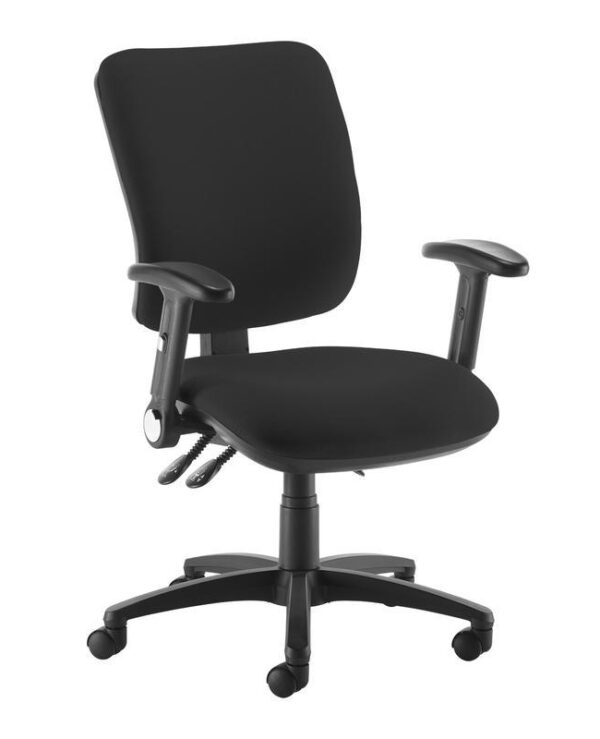 Senza high back operator chair with folding arms - black - Furniture