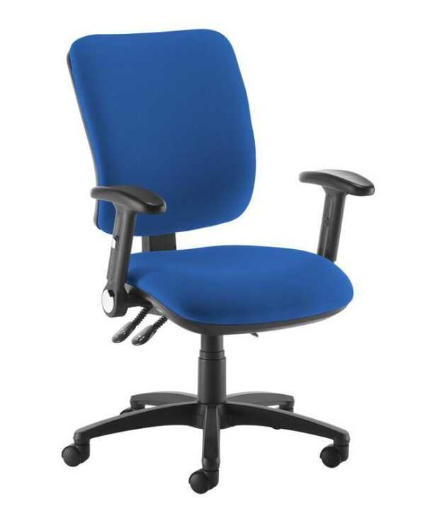 Senza high back operator chair with folding arms - blue - Furniture