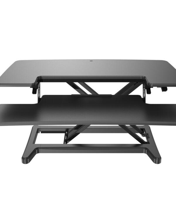 Sora height adjustable sit stand workstation for desks - Black - Furniture