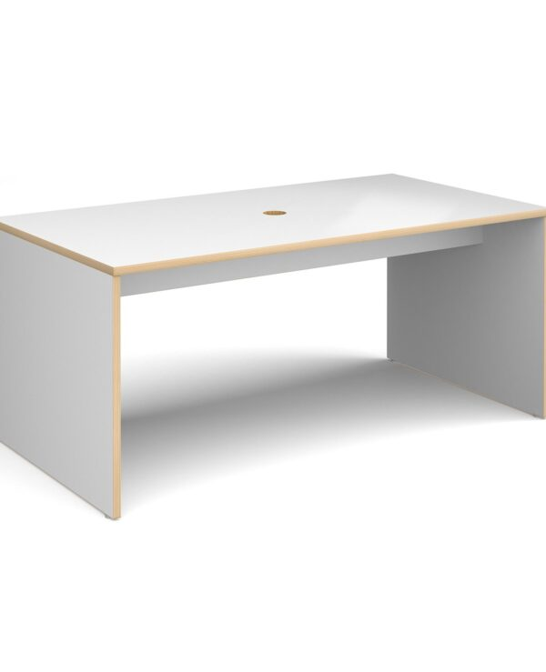 Slab 25 six person table 1700mm x 900mm with 25mm white top and cut out for data module - Furniture