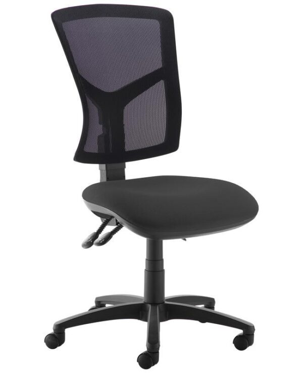 Senza high mesh back operator chair with no arms - black - Furniture