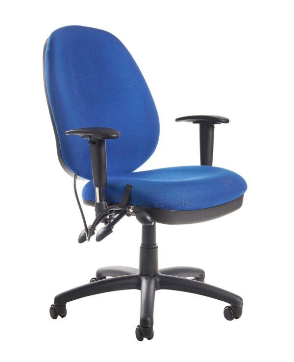 Sofia adjustable lumbar operators chair - blue - Furniture