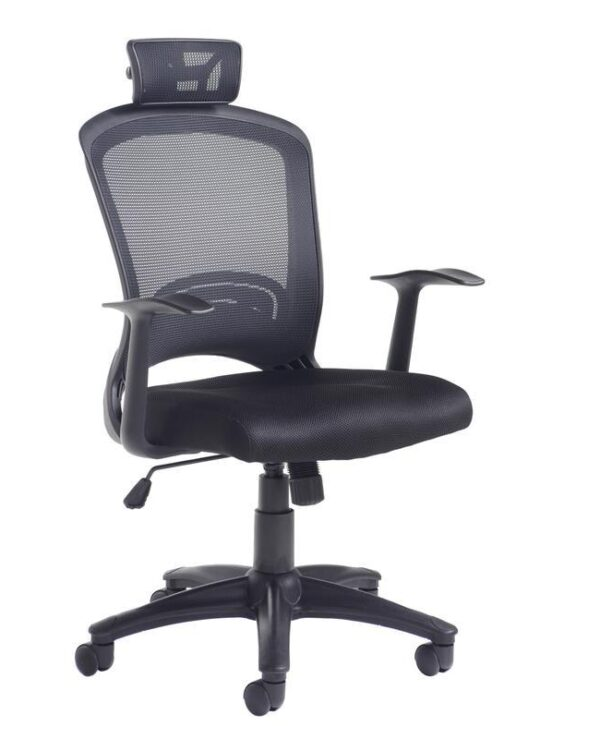 Solaris mesh back operator chair - black - Furniture
