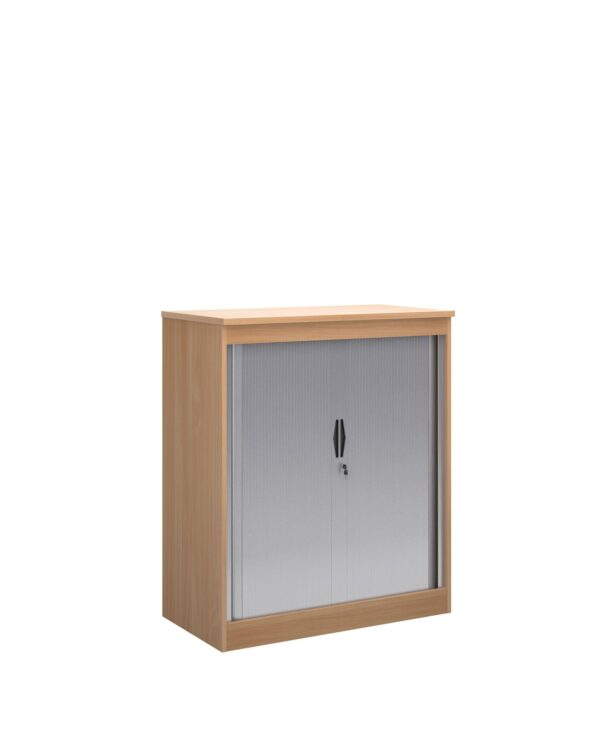 Systems horizontal tambour door cupboard 1200mm high - beech - Furniture
