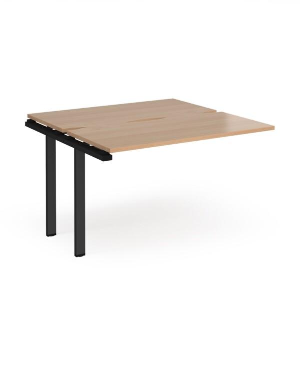 Adapt sliding top add on unit single 1200mm x 1200mm - black frame, beech top - Furniture