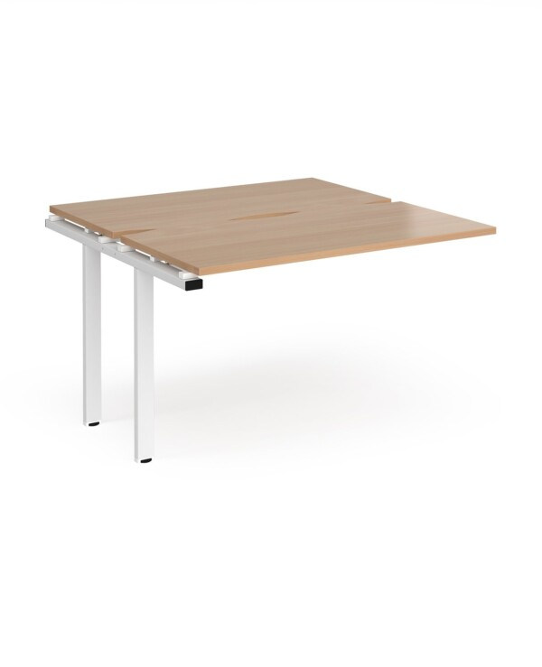 Adapt sliding top add on units 1200mm x 1200mm - silver frame, beech top - Furniture