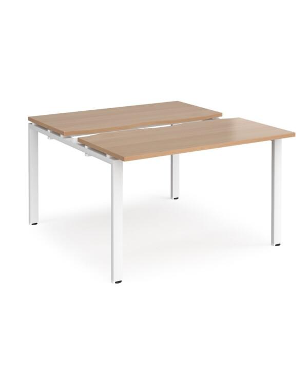 Adapt sliding top starter units 1200mm x 1200mm - silver frame, beech top - Furniture