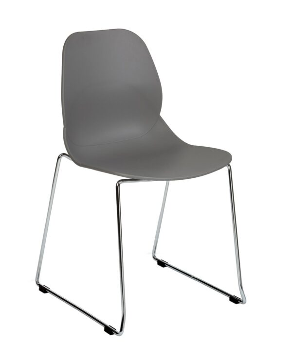 Strut multi-purpose chair with chrome sled frame - grey - Furniture