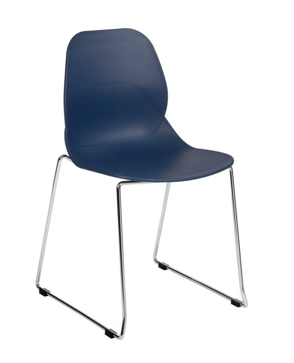 Strut multi-purpose chair with chrome sled frame - navy blue - Furniture