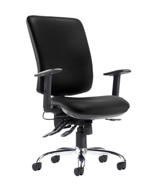 Senza ergo 24hr ergonomic asynchro task chair - Nero Black vinyl - Furniture