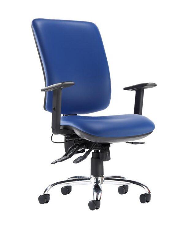 Senza ergo 24hr ergonomic asynchro task chair - Ocean Blue vinyl - Furniture