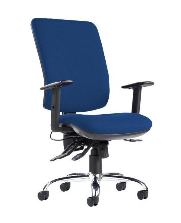 Senza ergo 24hr ergonomic asynchro task chair - Curacao Blue - Furniture