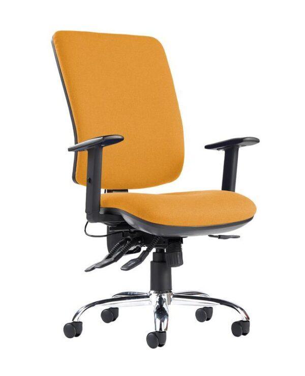Senza ergo 24hr ergonomic asynchro task chair - Solano Yellow - Furniture