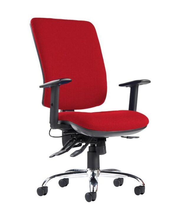 Senza ergo 24hr ergonomic asynchro task chair - Panama Red - Furniture